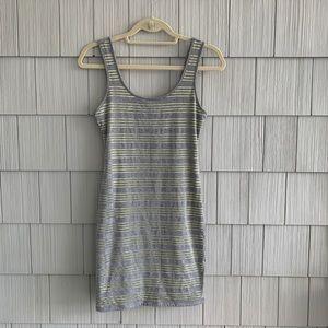 GUESS Contrast-Stripe Tank Dress Size Small